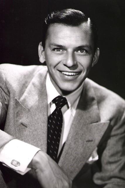 DIY frame Charming Smile Frank Sinatra music poster Black and white ...