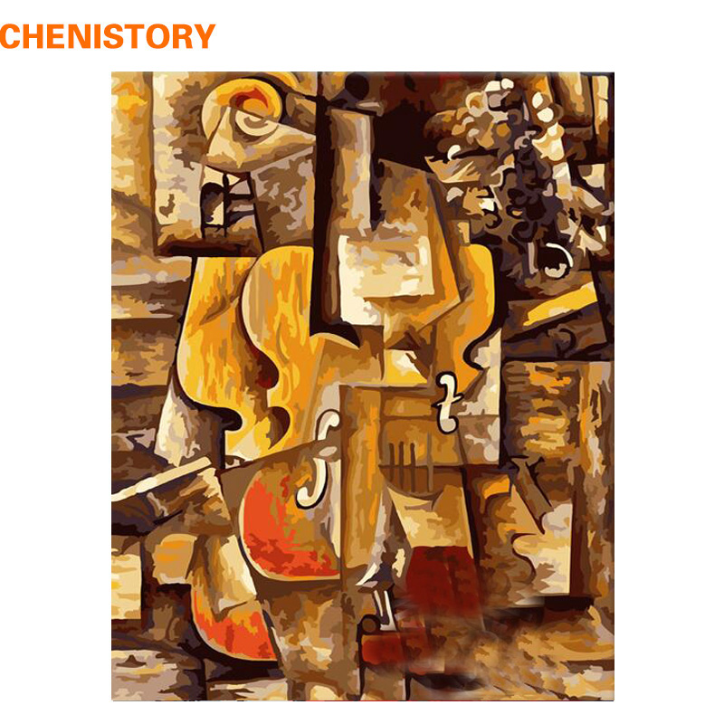 CHENISTORY Frameless Picasso Picture DIY Painting By Numbers HandPainted Oil Painting Kit Paint By Number For Home Decor 40x50cm