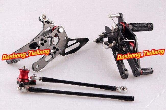 CNC регулируемый задний Набор подножки для Honda CBR 1000 RR 2004-2007& CBR600RR 2003-2006 алюминиевый сплав черный