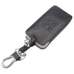 Image 2 - Jingyuqin étui en cuir pour clés de voiture, housse de protection pour clés, compatible avec Renault Koleos Kadjar, portefeuille et porte clé