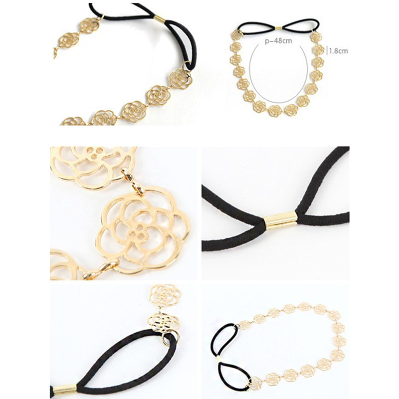 Hairband for Women Crystal Headband Head Wrap Hair Band Accessories Temperament Pearl Winding Hot Stamping Fine Hair Band
