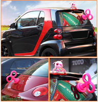 Cute Stylish Electric Lighting Spring Car Stickers Battery Powered For Cute Car Roof Refitting Pink 3D Vinyl Auto Accessories