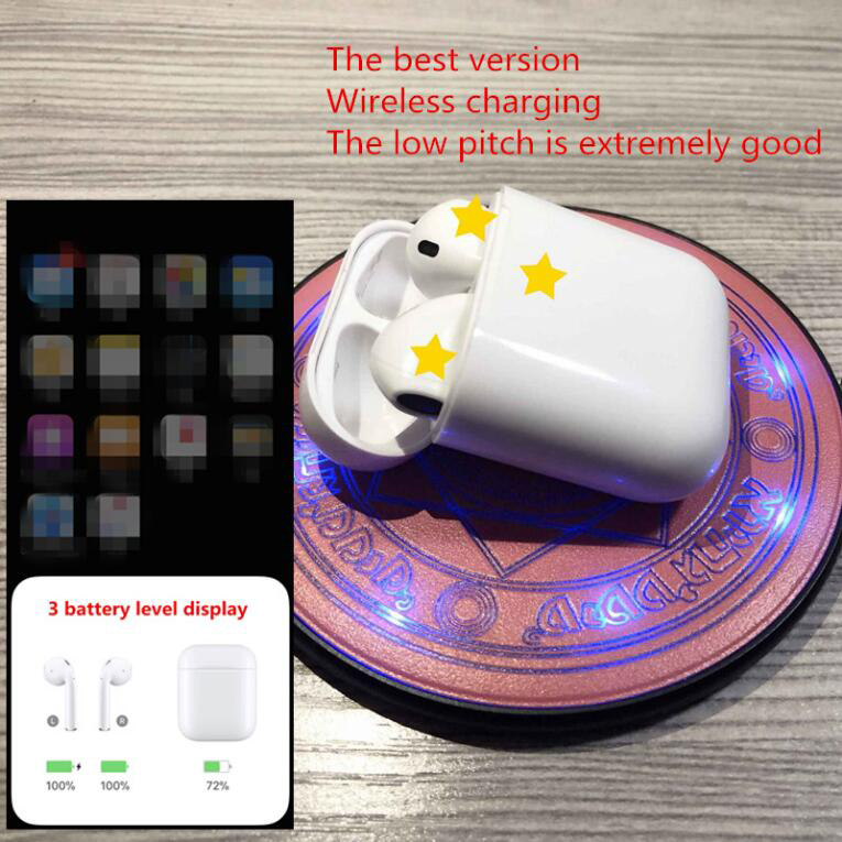 High quality Brand 2 with Charging Case Wireless Bluetooth Headphones 4D Stereo Music Earphone for IOS