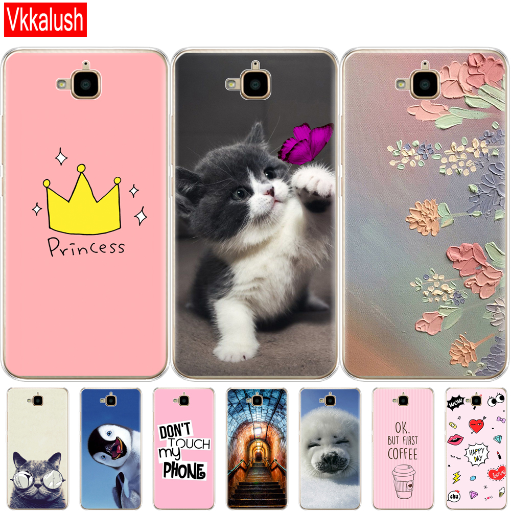 Phone-Shell Case-Cover Back-Case Huawei Honor TIT-L01 Silicon For 4C Pro Soft