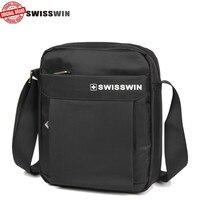 Suissewin Swisswin Swiss Small Messenger Shoulder Bag Gear Male Casual Crossbody Bag Men S Black Handbag