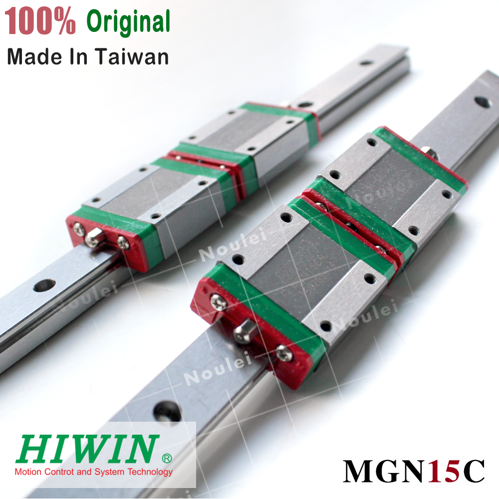 HIWIN MGN15C slide block with 400mm 500mm MGN15 linear motion guide rail for mini CNC parts MGN stainless steel setHIWIN MGN15C slide block with 400mm 500mm MGN15 linear motion guide rail for mini CNC parts MGN stainless steel set