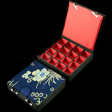 High quality Silk Printed Jewelry Pendant Boxes 10pcs/lot mix color Free