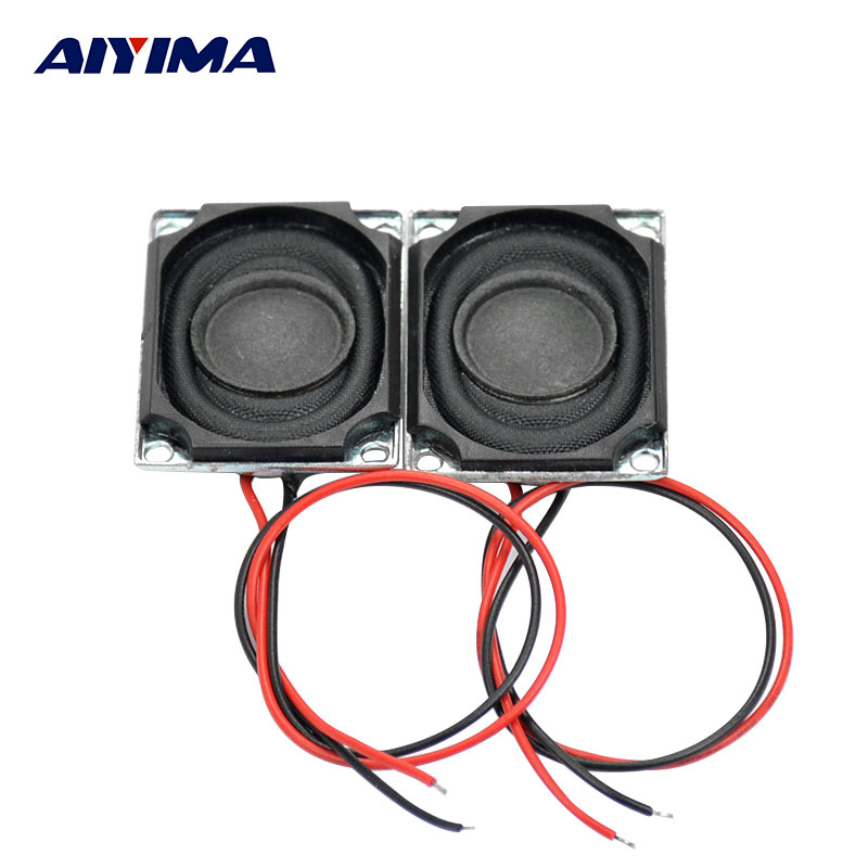 AIYIMA 2Pcs 27x20MM Mini Audio Portable Speakers 8Ohm 1.5W Full Range Stereo Speaker Electronic Horn Enthusiast DIY Loudspeaker