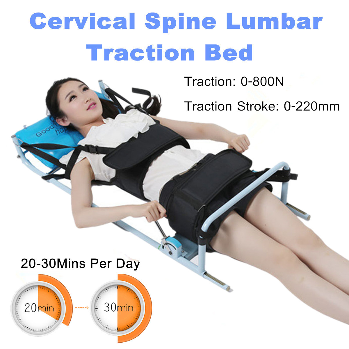 Cervical Spine Lumbar Spine Traction Bed Therapy Massage Bodys Stretch Device Reduction Spinal Joint Pressure Steel Pipe Health майка united colors of benetton майка 2шт