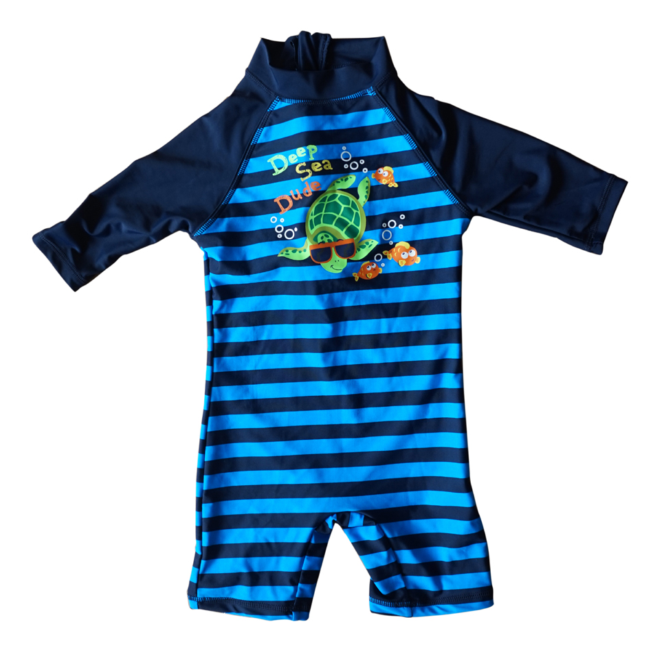 Bonverano(TM) Little Kids' Sunsuit Rashguard UPF 50+ Sun Protection S/S Zipper Stripe One Piece Swimsuit Swimwear rashguard mergulho rashguard a808