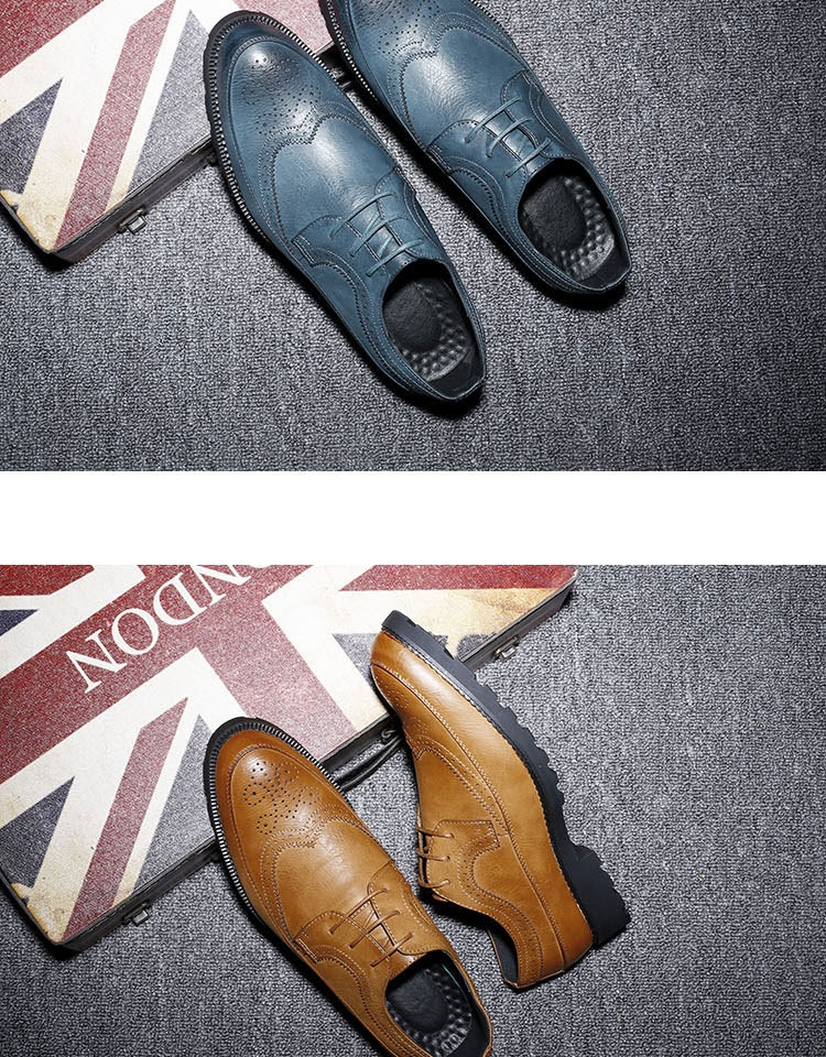 New Spring Autumn Man Genuine Leather Dress Shoes big size Breathable soft Fashion Sleeve Business Wedding Oxford Formal Shoes (6)