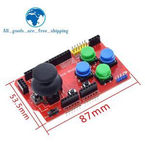 TZT щит джойстика для Arduino Плата расширения аналоговая клавиатура и функция мыши