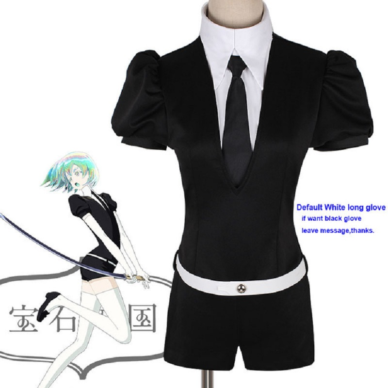 Japanese Anime Land of the Lustrous Houseki no Kuni Jade Yellow Diamond Cosplay Costume Playsuit Outfit Uniforms Suits Drop Ship