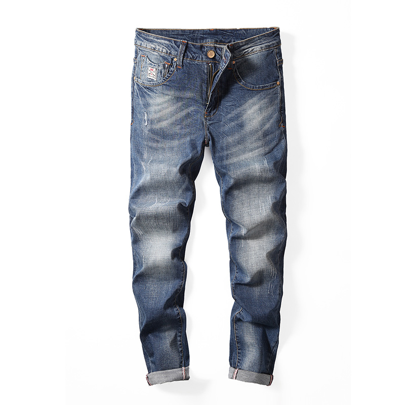 2018 New Luxury Mens Brand Jeans Men Cotton Skinny Slim Solid Casual Stretch Denim Jean Mens Long Pants Male