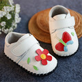 New 2016 Spring Kids Shoes Soft High Quality Genuine Leather Baby Girl First Walker Sweet Butterfly Flowers Baby Shoes #2975