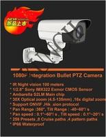 NEW Outdoor Mini PTZ IP Camera Rotary Bullet IP Camera Waterproof HD 2MP 30X Zoom IR