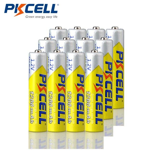 12 adet PKCELL NIMH AAA pil 1.2V 3A 1200mah aaa ni mh şarj edilebilir pil piller üzerinde 1000 devir yüksek enerji