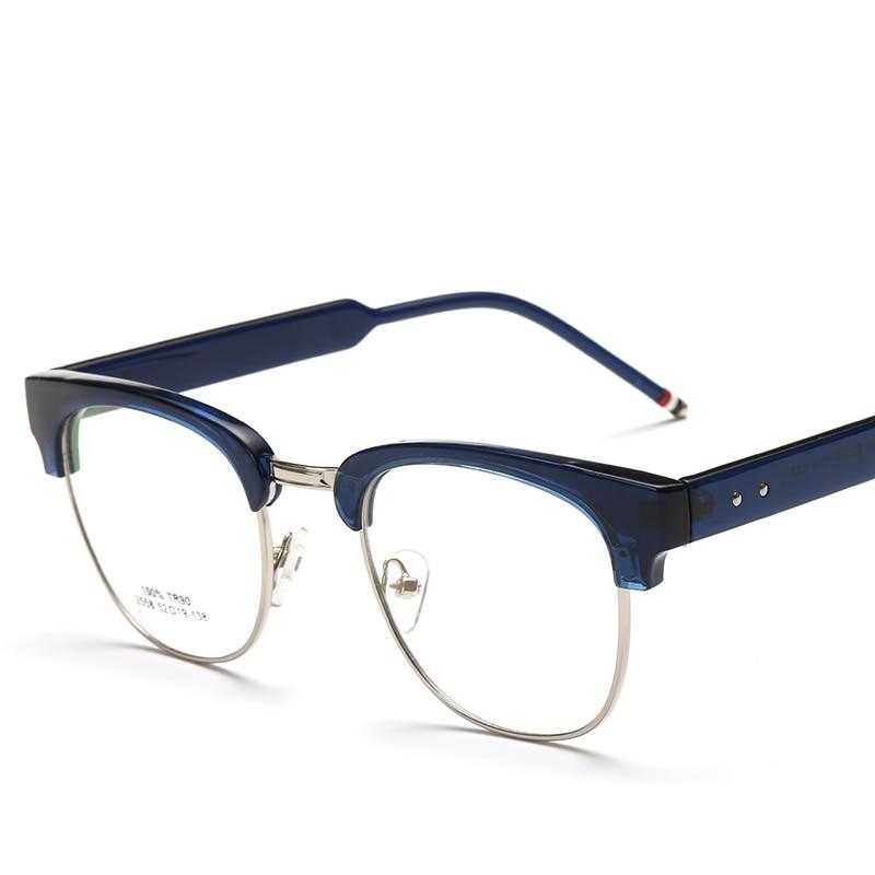 TR90 Plastic Titanium Eyeglasses Rimless Frame Round Clear Lens ...