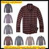 Free Shipping XS XXL European Size Long Sleeve Business Flannel Shirt For Men Winter Check Plaids