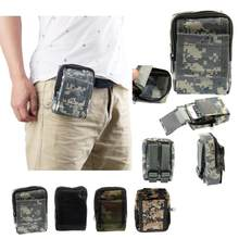 Outdoor Military Molle Camo Waist Bag Waterproof Phone Pouch Pocket Casual Functional Fanny Bag Waist Bag Phone Belt Bag(China)