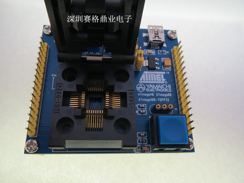 Image 3 - IC51 0324 1488 QFP32 TQFP32 ATmega8 IC testing seat  test bench Test Socket Programming Socket Burn in Socket New&Original-in Integrated Circuits from Electronic Components & Supplies
