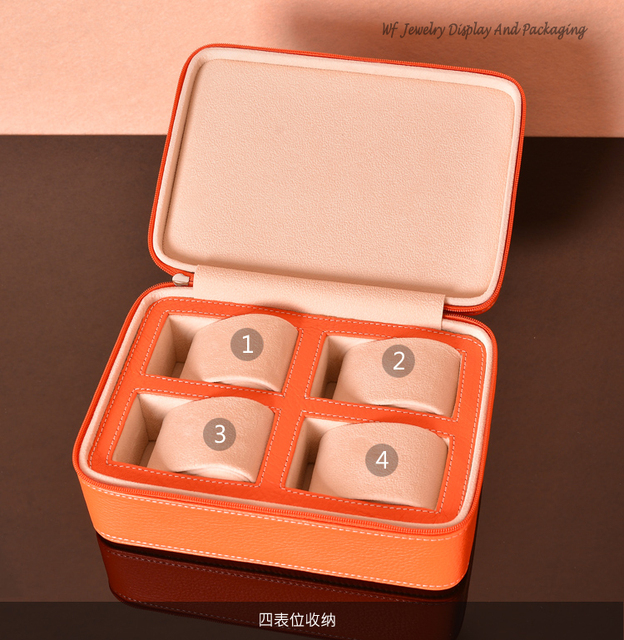 Us 58 88 Aliexpress Com Buy The New Fashion Genuine Leather Watch Storage Box 4 Watch Packaging Case Watch Travel Ziplock Bag Protable Watch Bag