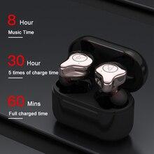 BANDE di Alta Qualità HIFI 3D Surround Suono Auricolari Bluetooth Senza Fili Con 3000 mAh di Carica Box