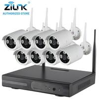 ZILNK 8CH 720P HD Plug And Play Wireless NVR Kit P2P Waterproof Outdoor IR Security Surveillance