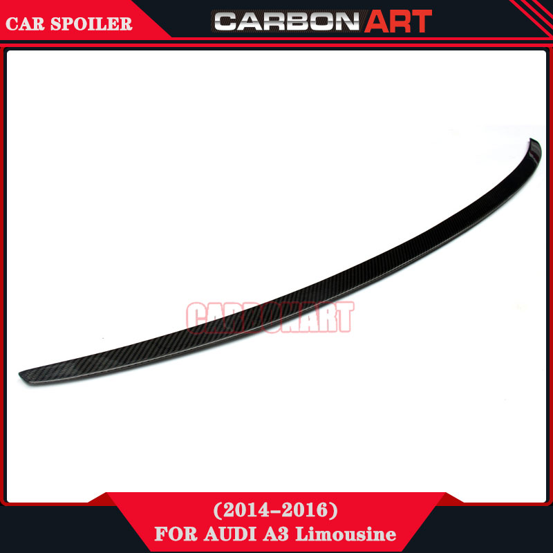 Performance Car Parts Carbon Fiber S3 Style Rear Wing Spoiler For Audi A3 Sedan Limousine TFSI S Line молдинги car wing a3