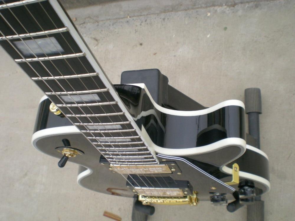 Chaud!!!! Nouveau style personnalisé acajou guitarra couleur noire H-H guitarra eletrica guitare électrique matériel doré!