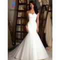 Sexy Sweetheart Sheath Wedding Dress Cheap White Lace Up Back Tulle Long Bridal Gowns Customize