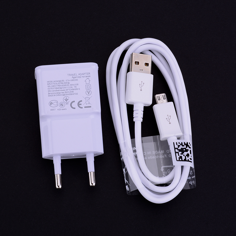 For Samsung Galaxy J1 J3 J5 J7 A3 A5 A7 2015 2016 2017 S5 S6 S7 Edge S8 Plus Phone Charger Adapter 5V 2A Fast Charger Cable