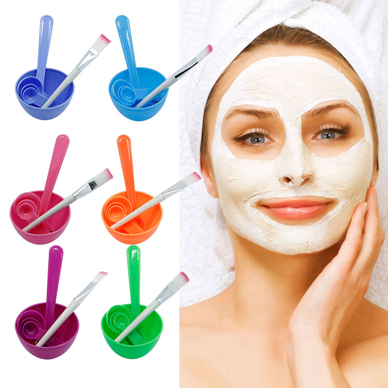 1Set New 4 in1 Makeup Beauty DIY Facial Face Mask Bowl Brush Spoon Stick Tool Set deep face cleansing brush facial cleanser 2 speeds electric face wash machine