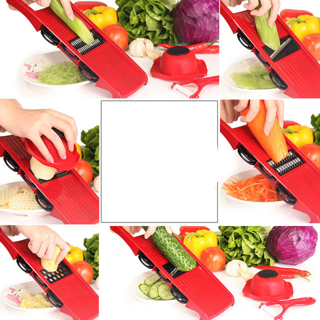 Slicer 6 Piece Blades Mandolin Slicer