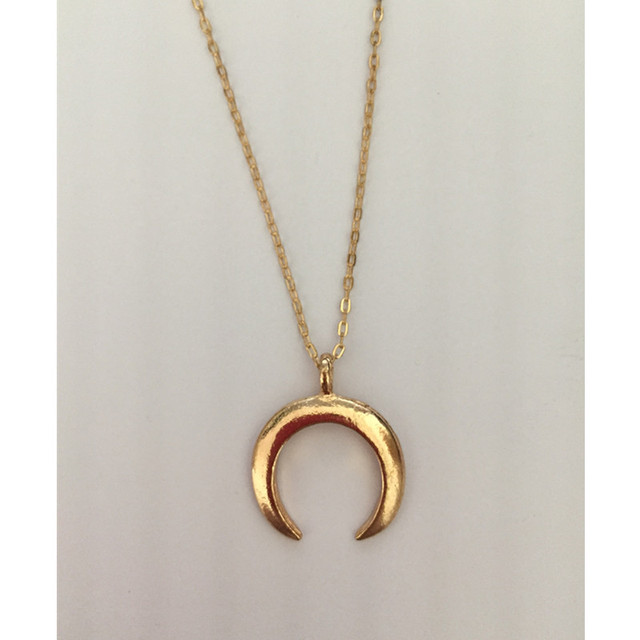 New fashion jewelry Crescent horns moon pendant necklace gift for women girl