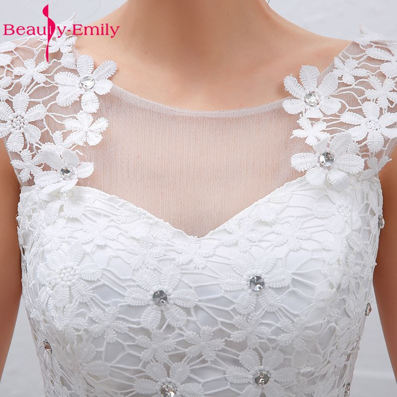Ομορφιά-Emily Plus Μέγεθος Λευκό Φτηνές - Γαμήλια φορέματα - Φωτογραφία 5