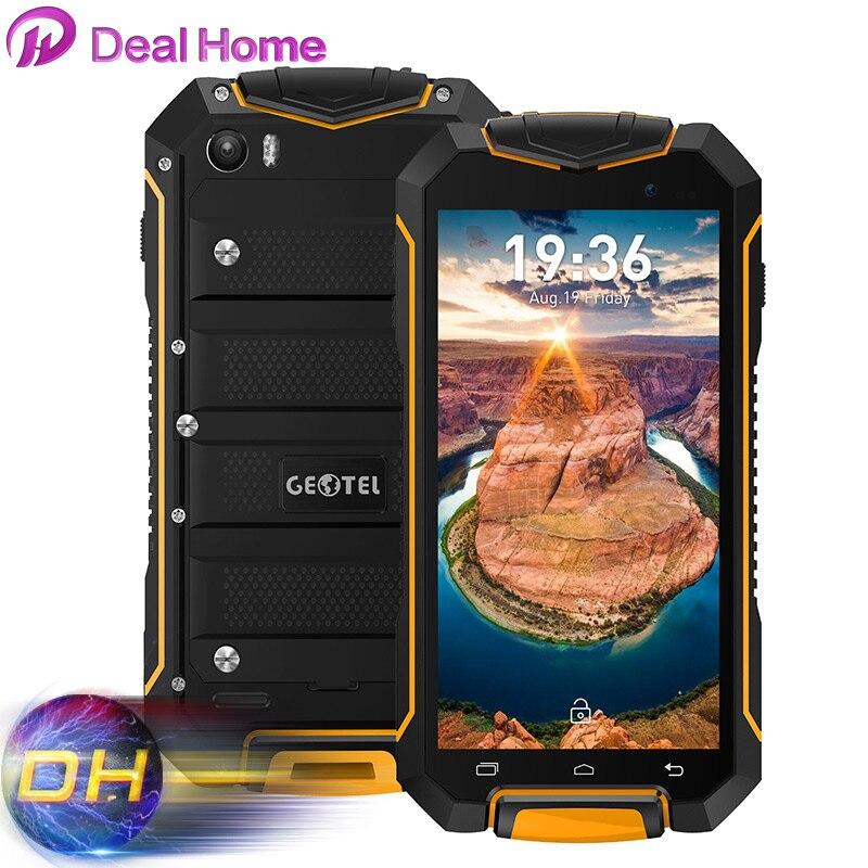 Цена за Android 7.0 IP67 Оригинал Geotel A1 4.5 Дюймов Экран HD Водонепроницаемый Смартфон Сотовый Телефон MTK6580M Четырехъядерный процессор 3 Г WCDMA Мобильного Телефона