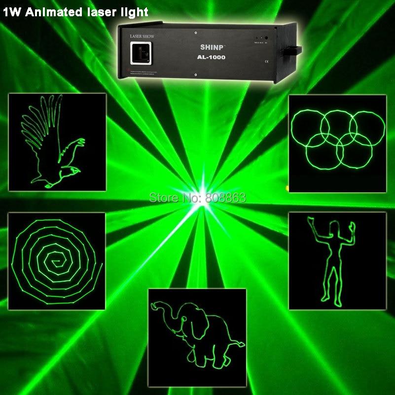 цена Green 1W/2W/3W Laser projector Party Bar Club dmx512 ILDA lighting light DJ Disco Dance KTV cool Animation Stage Light show S21 онлайн в 2017 году