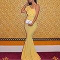 Fashion Simple but Elegant One Shoulder Sleeveless Mermaid Floor Length Prom Dresses