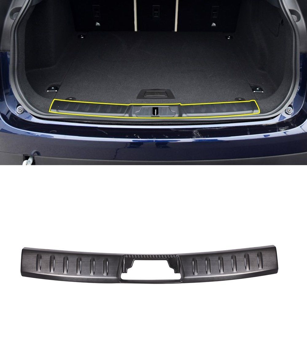 Stainless steel Inner Rear Bumper Guard Plate Cover Trim For Jaguar F-Pace X761 2016-2017 Car Accessories aosrrun after the stainless steel backboard of the guard board the rear guard plate car accessories for acura cdx 2016 2017