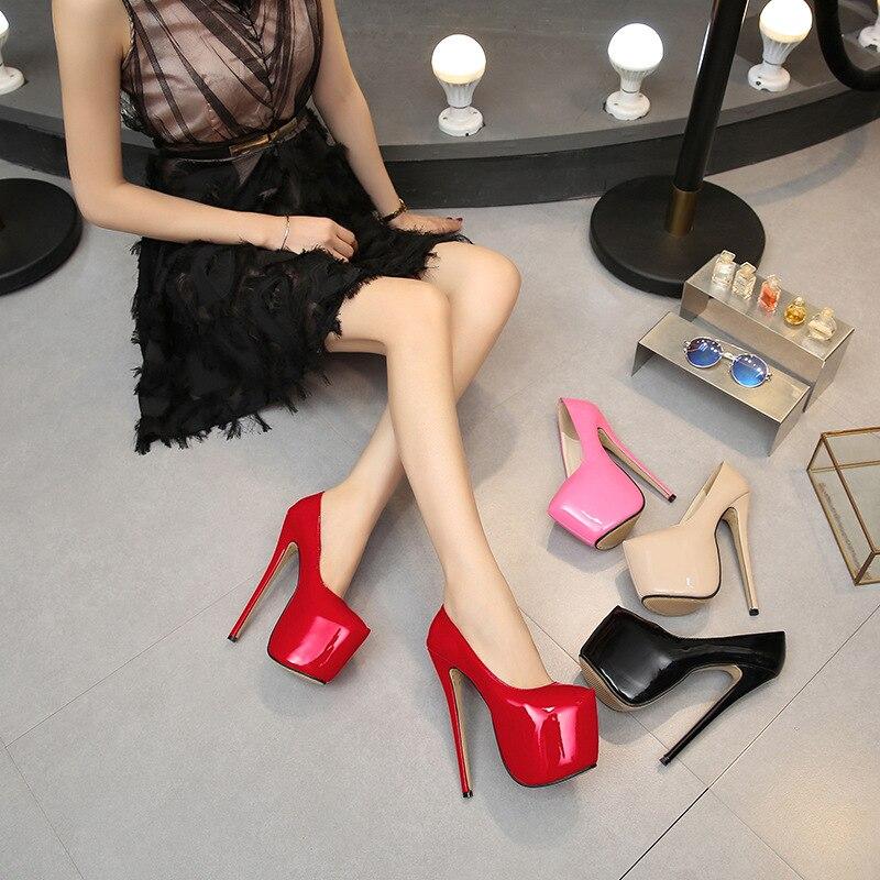 Super Piattaforma rosso Dimensioni Con Alti Tacco Di Alta Rosa Donne scarpe Beige Della il Impermeabile Delle Col Scarpe Discoteca Spessore tacchi Da Selvaggio Alto La Nero Form Grandi Casual Suola colore qx6wEHgAg