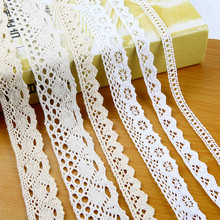 10 Meters / Pure Cotton Embroidered Lace Net Ribbons Fabric High Quality Trim Ribbon for DIY Sewing Crafts