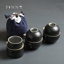 Чайный набор pinny black керамика для путешествий кунг фу чайная