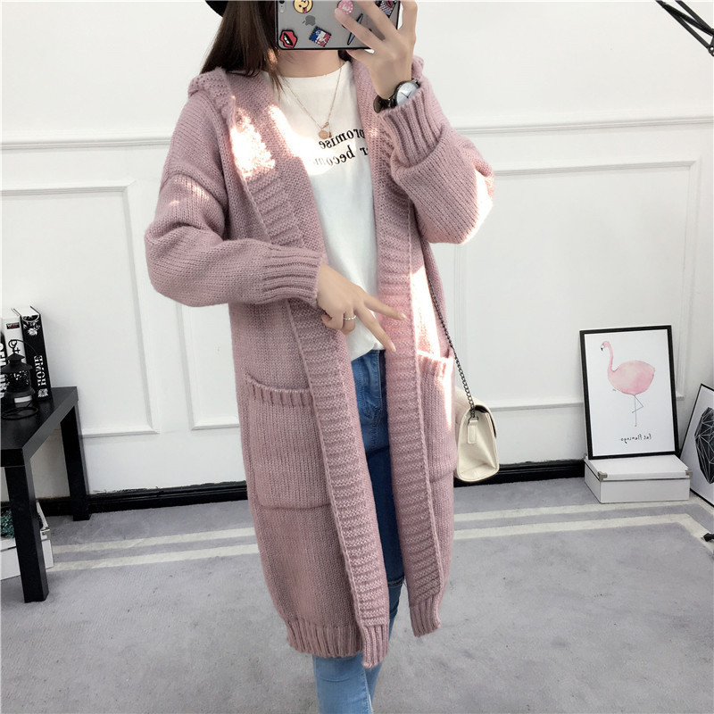 HTB1L4JkSVXXXXa1apXXq6xXFXXXr - Women Long Knitted Sweater Coat Hooded Sweater Cardigans JKP039