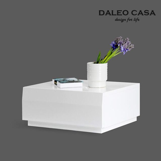 Estilo ikea nordic solo cubo de mesa de noche pintura - Ikea mesa blanca ...