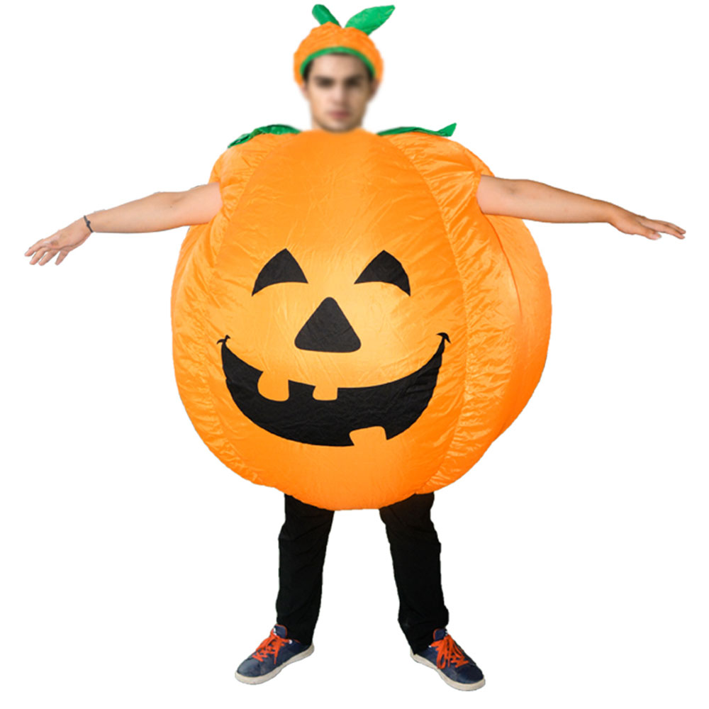 Inflatable Pumpkin Halloween Party Decoration Funny Cosplay Costume Dress Halloween Party Supplies