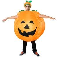 Inflável da Abóbora de Halloween Decoração Do Partido Engraçado Cosplay Vestido Halloween Fontes Do Partido