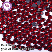 High Quality Dark Siam DMC Hotfix Rhinestones For Clothing Accessories DIY Decoration Iron On Stones