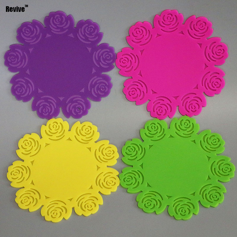Revive silicone mat insulated pat high temperature resistance cusion placemat for dish bowl pan boiler kitchenware hookah base