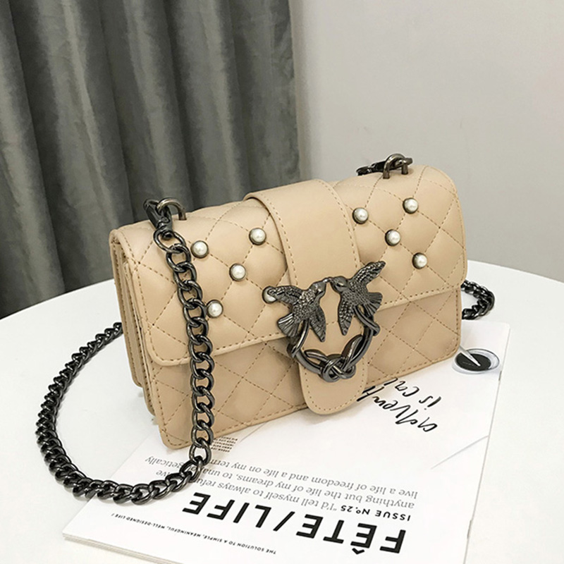2018 Luxury Brand Women Chain Shoulder Bag pearl Messenger Bags